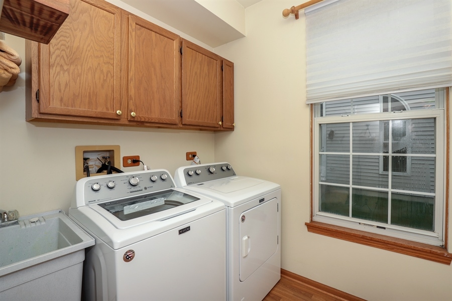 Real Estate Photography - 972 Dunhill, Grayslake, IL, 60030 - Laundry Room