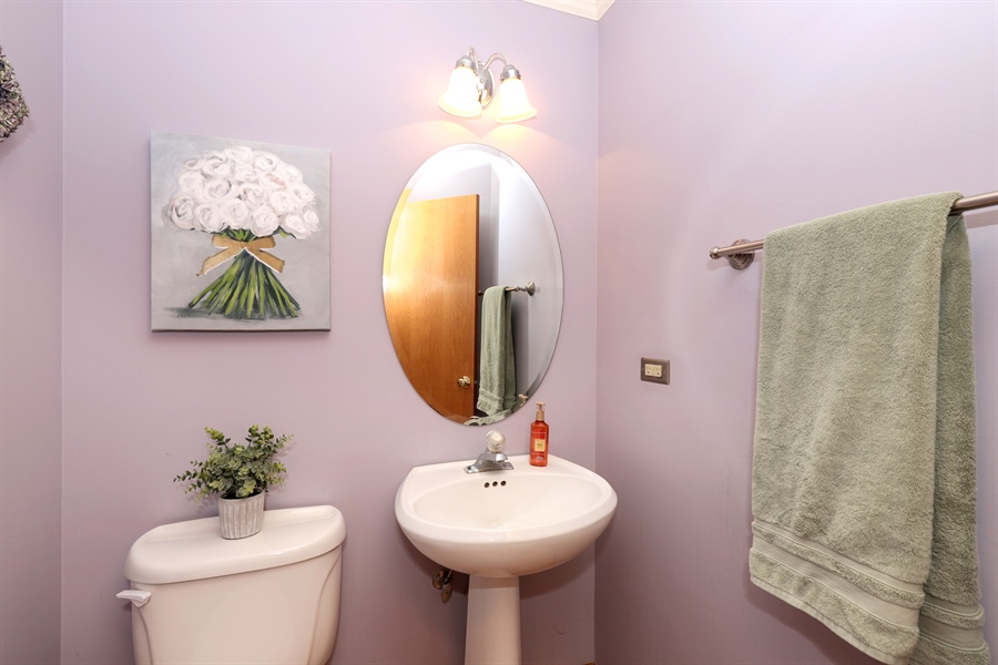 Real Estate Photography - 972 Dunhill, Grayslake, IL, 60030 - Half Bath