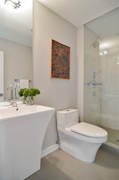 Real Estate Photography - 600 N Kingsbury, 1906, Chicago, IL, 60654 - 2nd Bathroom