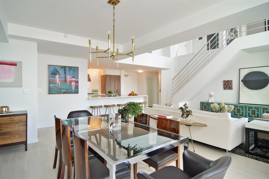Real Estate Photography - 600 N Kingsbury, 1906, Chicago, IL, 60654 - Kitchen / Dining Room