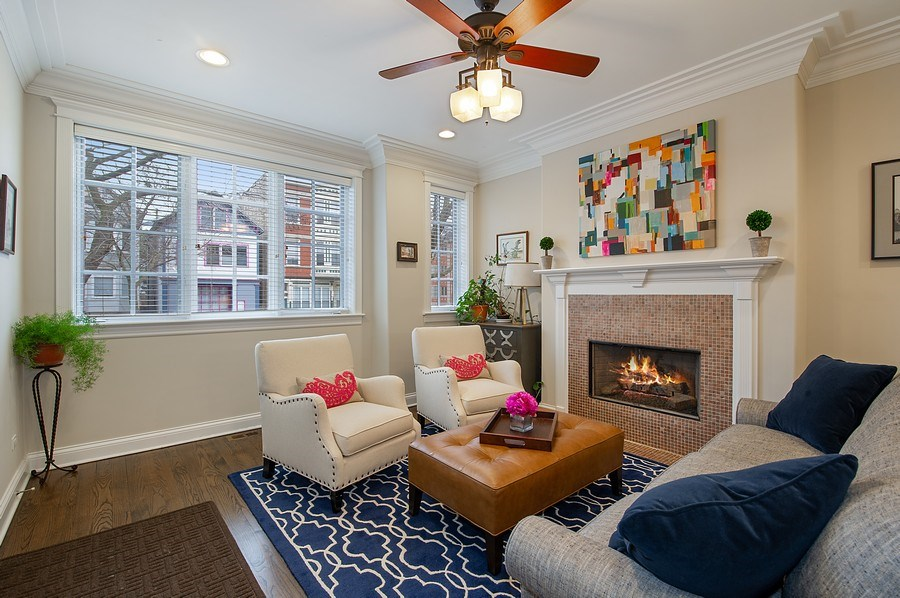 Real Estate Photography - 2836 Racine Ave, Unit 1, Chicago, IL, 60657 - Living Room
