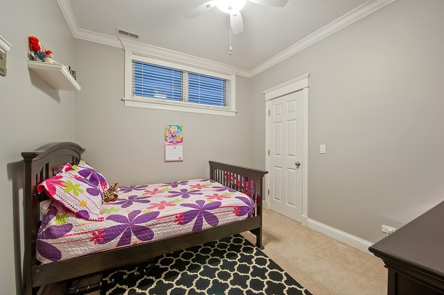 Real Estate Photography - 2836 Racine Ave, Unit 1, Chicago, IL, 60657 - 2nd Bedroom