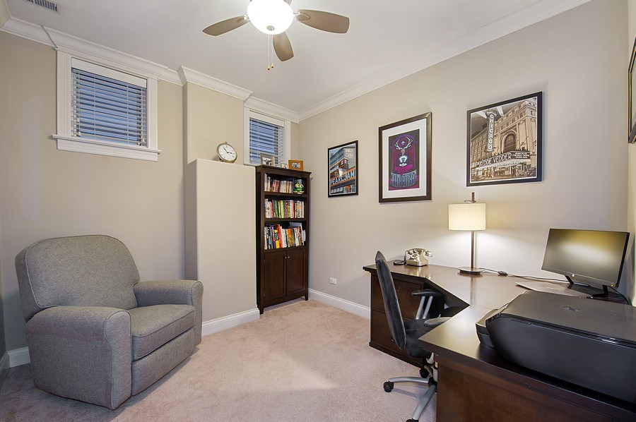 Real Estate Photography - 2836 Racine Ave, Unit 1, Chicago, IL, 60657 - 3rd Bedroom