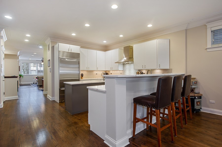 Real Estate Photography - 2836 Racine Ave, Unit 1, Chicago, IL, 60657 - Kitchen / Breakfast Room