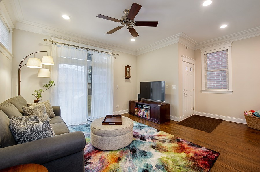 Real Estate Photography - 2836 Racine Ave, Unit 1, Chicago, IL, 60657 - Family Room
