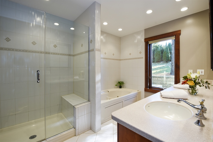 Real Estate Photography - 238 Biltmore Dr, North Barrington, IL, 60010 - Master Bathroom