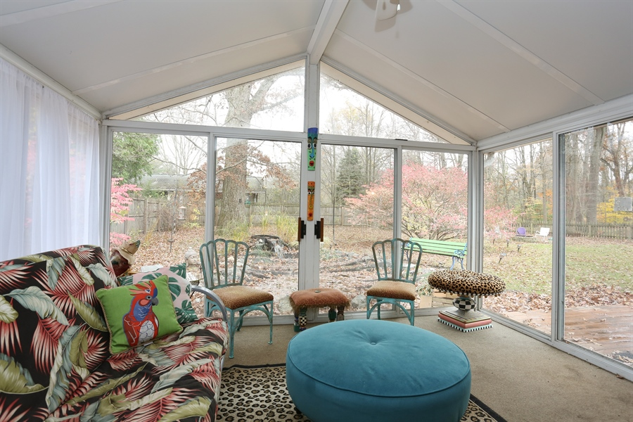 Real Estate Photography - 16153 Krob Rd, Union Pier, MI, 49129 - Glass 3 season porch