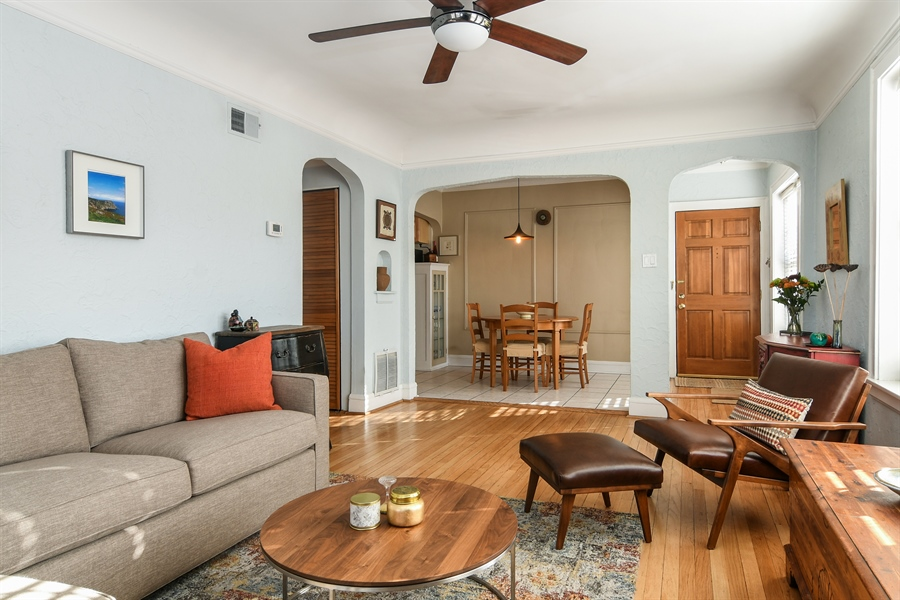 Real Estate Photography - 1956 West Melrose, 2W, Chicago, IL, 60657 - Living Room / Dining Room