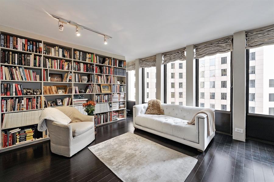 Real Estate Photography - 100 E Walton, #17C, Chicago, IL, 60611 - Living Room