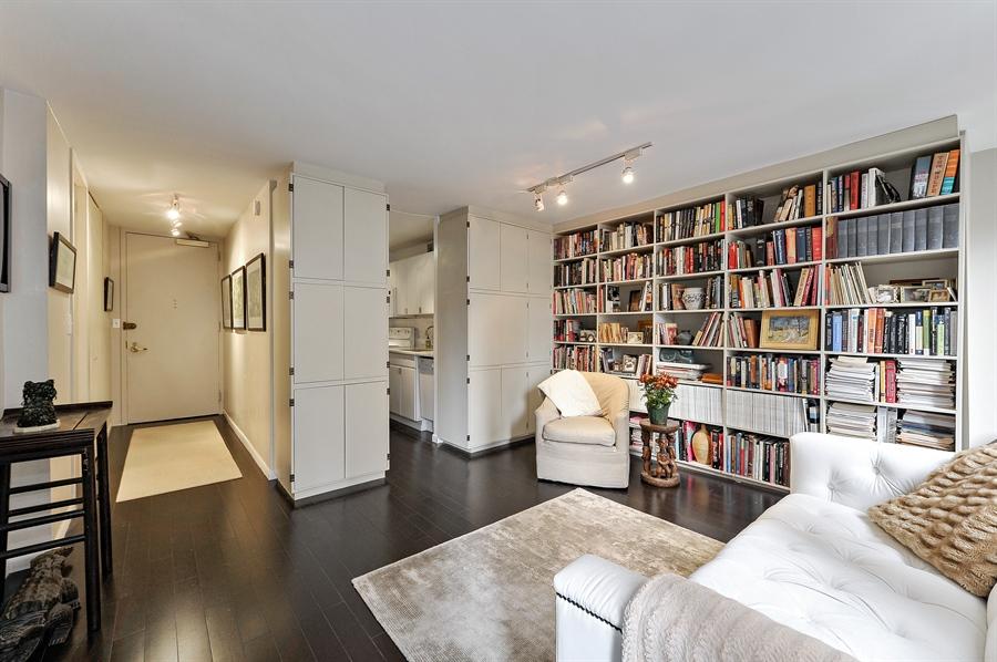 Real Estate Photography - 100 E Walton, #17C, Chicago, IL, 60611 - Kitchen/Living