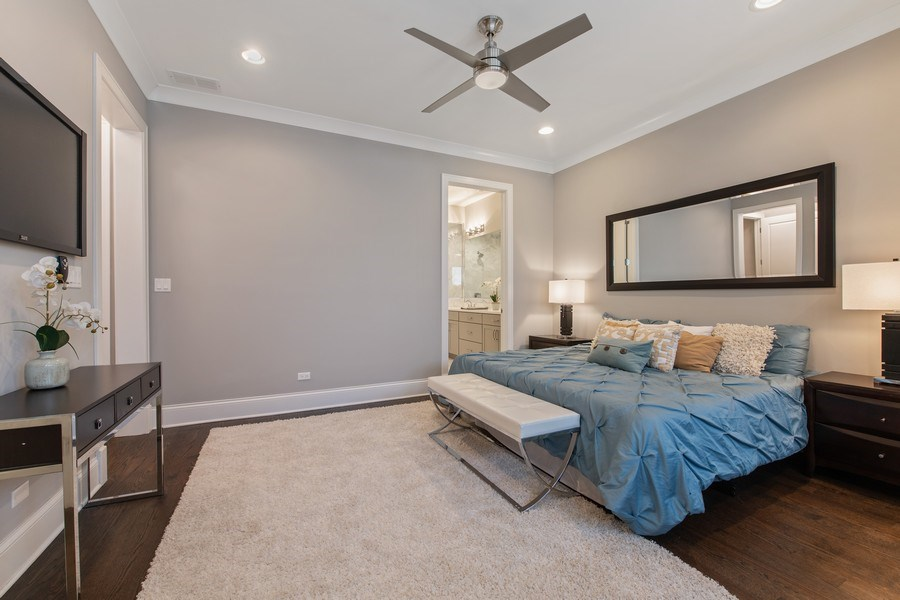 Real Estate Photography - 5061 N. Lincoln Avenue, 1S, Chicago, IL, 60625 - Master Bedroom