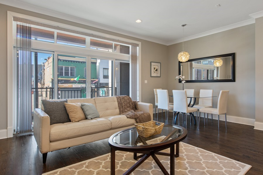 Real Estate Photography - 5061 N. Lincoln Avenue, 1S, Chicago, IL, 60625 - Living Room/Dining Room