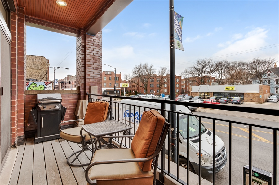 Real Estate Photography - 5061 N. Lincoln Avenue, 1S, Chicago, IL, 60625 - Balcony