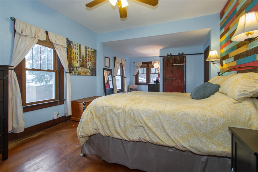 Real Estate Photography - 126 S. CHurch St., Elkhorn, WI, 53121 - Master Bedroom