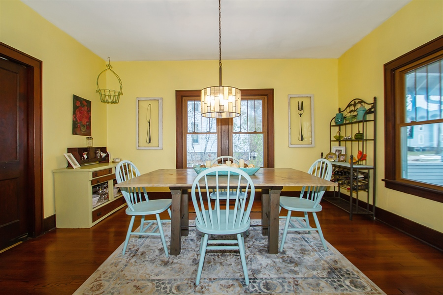 Real Estate Photography - 126 S. CHurch St., Elkhorn, WI, 53121 - Dining Room