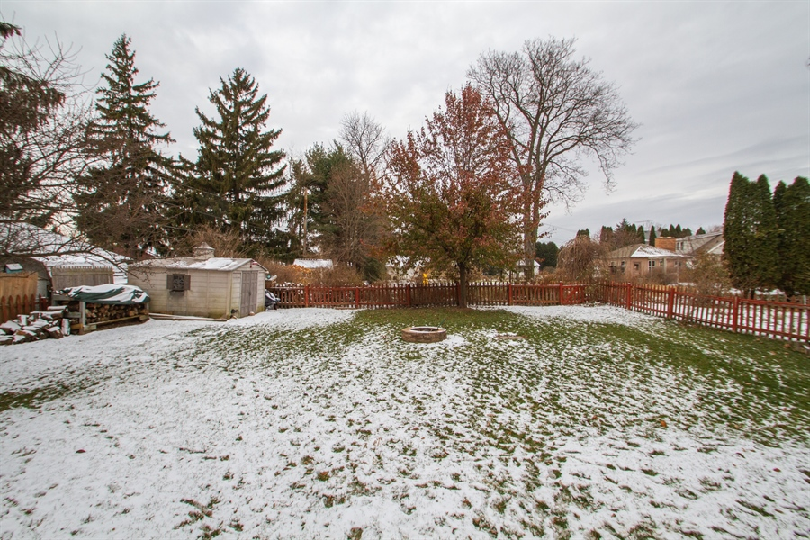 Real Estate Photography - 126 S. CHurch St., Elkhorn, WI, 53121 - Back Yard