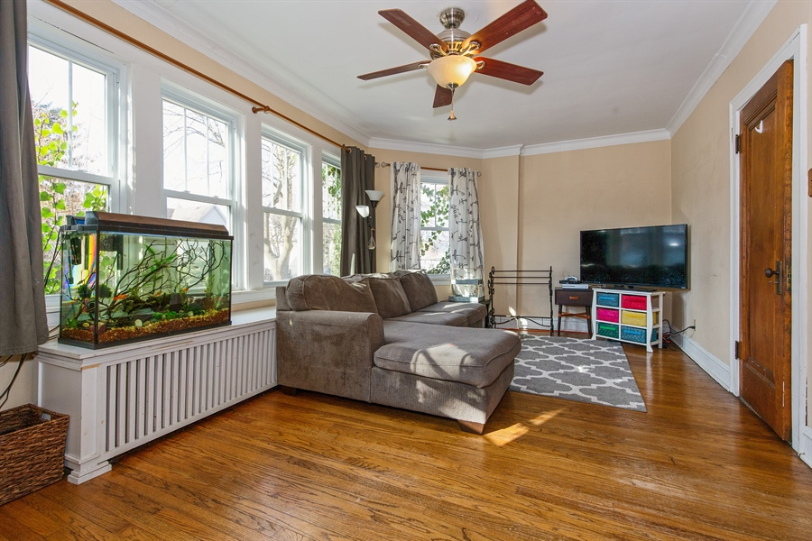 Real Estate Photography - 4059 N Mobile Ave, Chicago, IL, 60634 - Living Room
