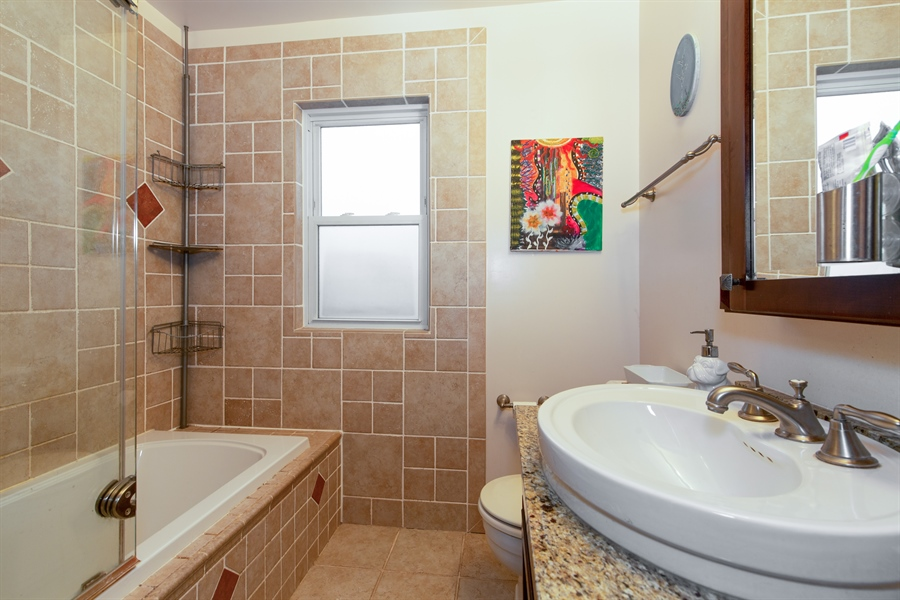 Real Estate Photography - 4059 N Mobile Ave, Chicago, IL, 60634 - Bathroom