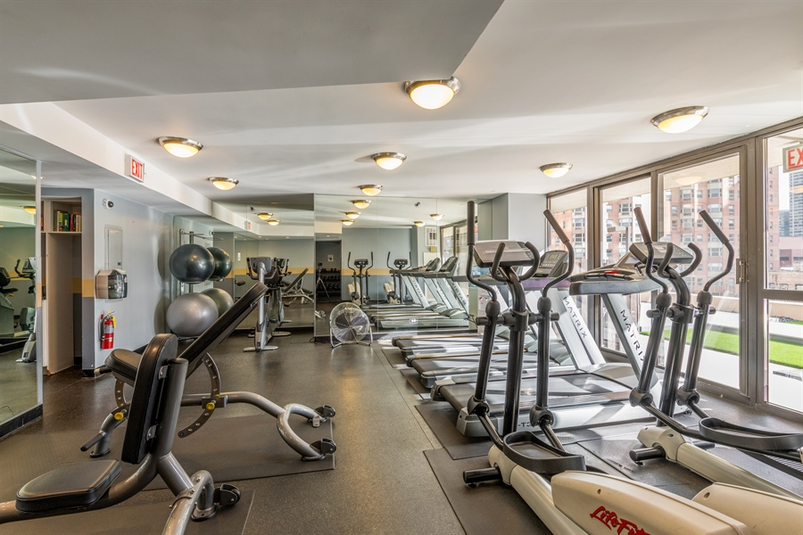 Real Estate Photography - 33 W Delaware, Unit 10B, Chicago, IL, 60610 - Gym