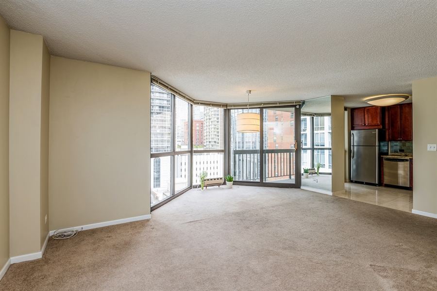 Real Estate Photography - 33 W Delaware, Unit 10B, Chicago, IL, 60610 - Living Room