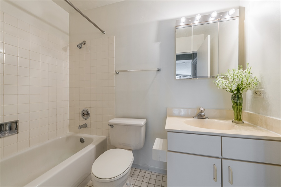 Real Estate Photography - 33 W Delaware, Unit 10B, Chicago, IL, 60610 - Bathroom