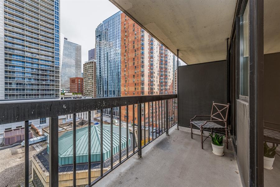 Real Estate Photography - 33 W Delaware, Unit 10B, Chicago, IL, 60610 - Balcony