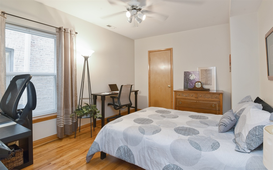 Real Estate Photography - 917 W. Sunnyside Ave., 1-S, Chicago, IL, 60640 - 2nd Bedroom