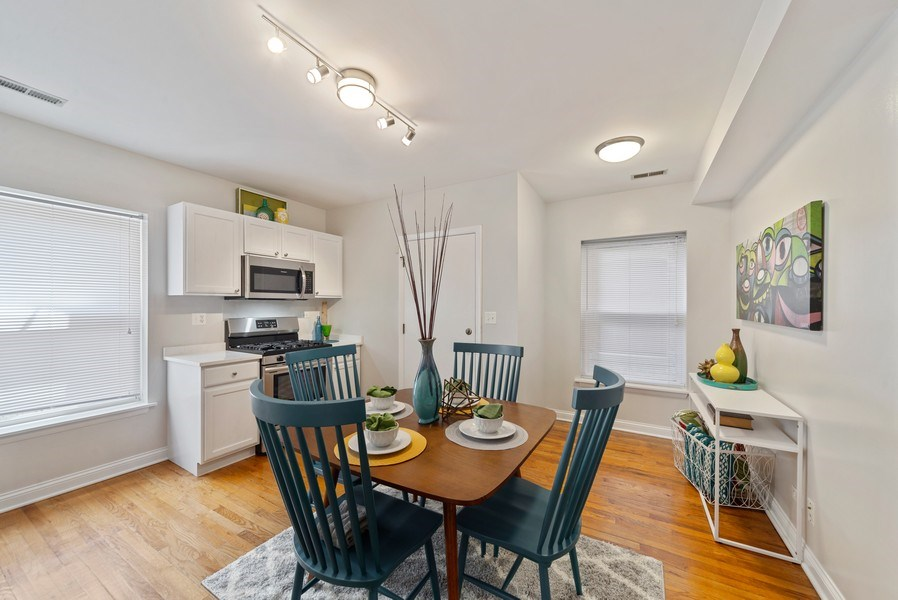 Real Estate Photography - 917 W. Sunnyside Ave., 1-S, Chicago, IL, 60640 - Dining Room