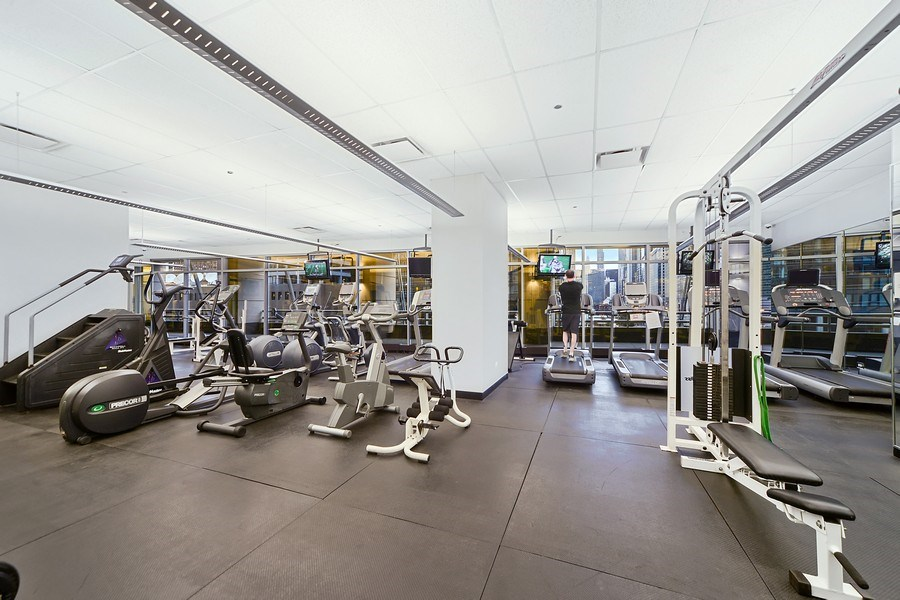 Real Estate Photography - 333 N. Canal, 1804, Chicago, IL, 60606 - Exercise Room