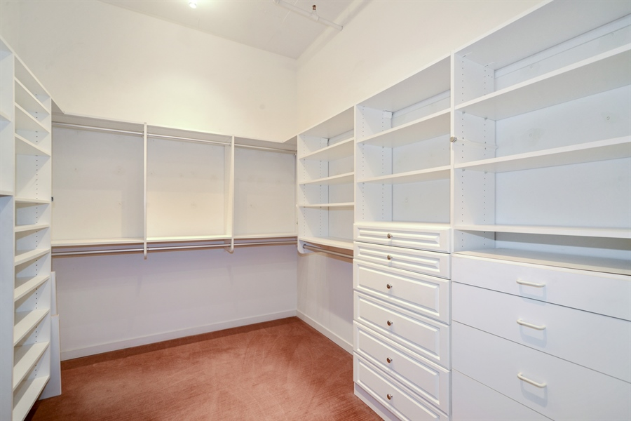 Real Estate Photography - 333 N. Canal, 1804, Chicago, IL, 60606 - Master Bedroom Closet