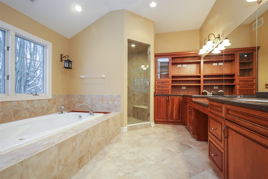 Real Estate Photography - 9050 Underhill Court, Lakewood, IL, 60014 - Master Bathroom