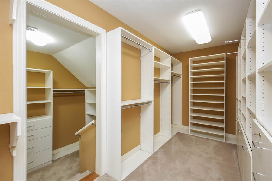 Real Estate Photography - 9050 Underhill Court, Lakewood, IL, 60014 - Master Bedroom Closet