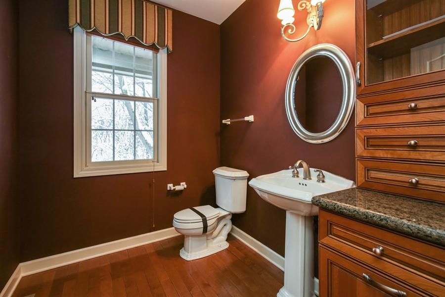 Real Estate Photography - 9050 Underhill Court, Lakewood, IL, 60014 - Half Bath