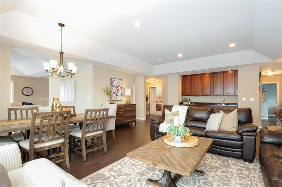 Real Estate Photography - 1942 Crenshaw, Vernon Hills, IL, 60061 - Living Room/Dining Room