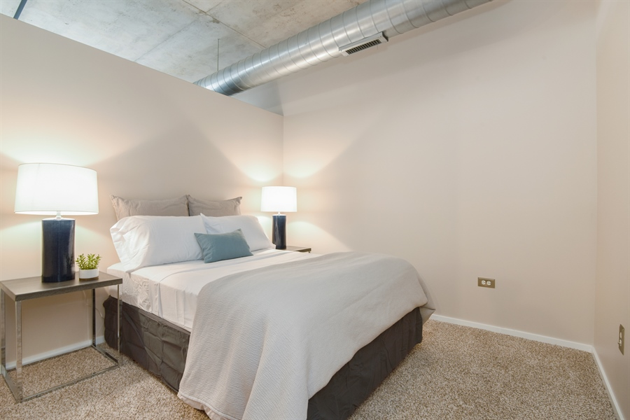 Real Estate Photography - 6 S Laflin, 923, Chicago, IL, 60607 - 2nd Bedroom