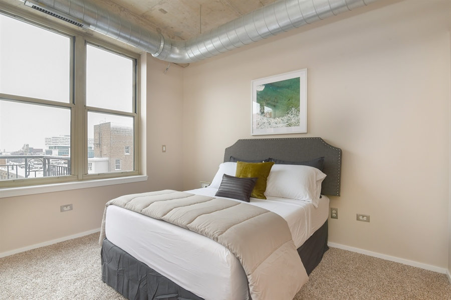 Real Estate Photography - 6 S Laflin, 923, Chicago, IL, 60607 - Bedroom
