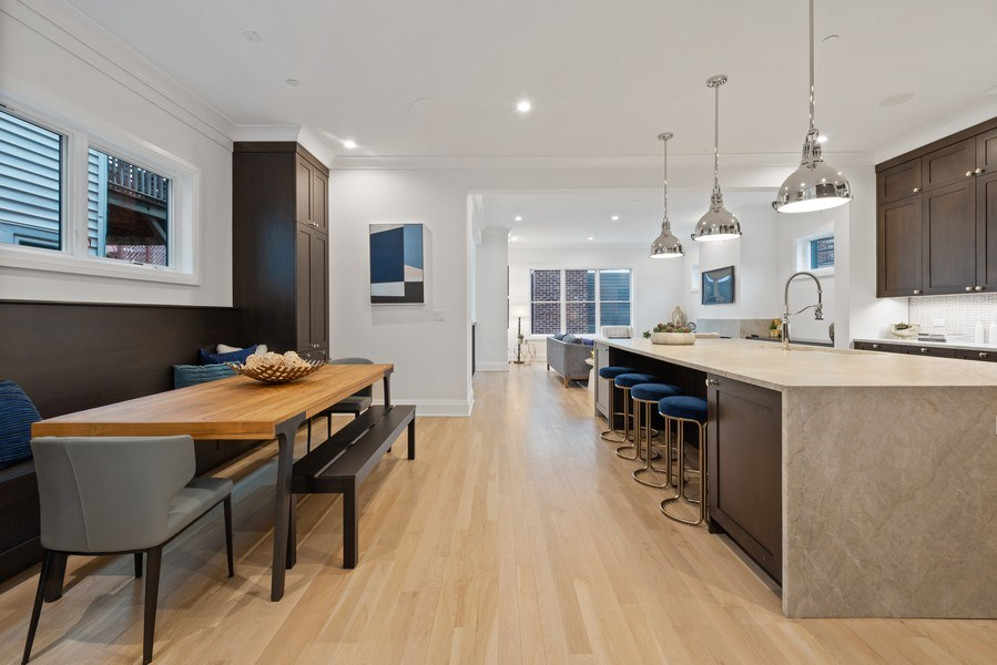 Real Estate Photography - 2615 N Bosworth Ave, Chicago, IL, 60614 - Kitchen / Breakfast Nook