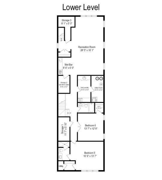 Real Estate Photography - 2615 N Bosworth Ave, Chicago, IL, 60614 - Floor Plan