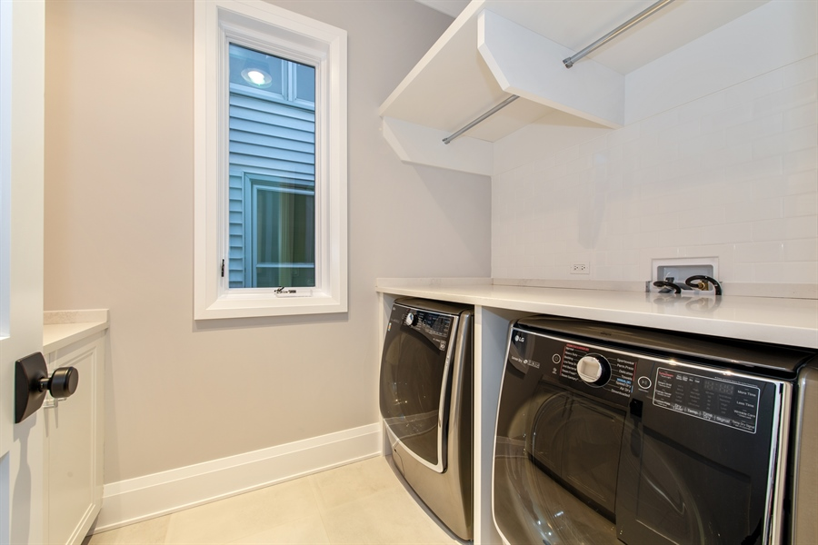 Real Estate Photography - 2615 N Bosworth Ave, Chicago, IL, 60614 - 2nd Floor Laundry