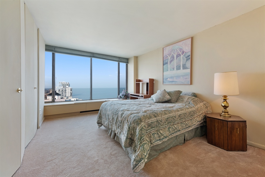 Real Estate Photography - 5455 N Sheridan Rd, 3303, Chicago, IL, 60640 - Bedroom