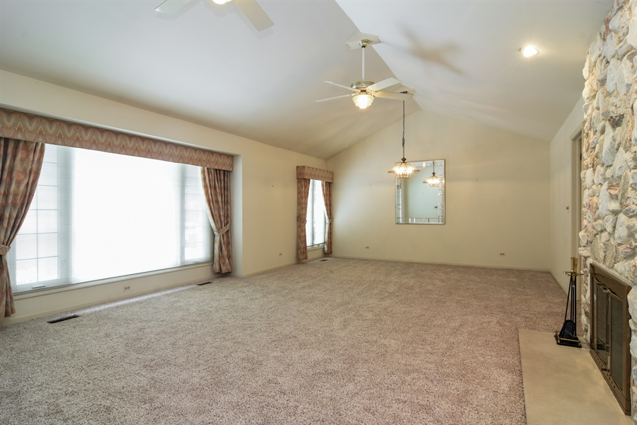 Real Estate Photography - 1413 Shire Circle, Inverness, IL, 60067 - Living / Dining Room