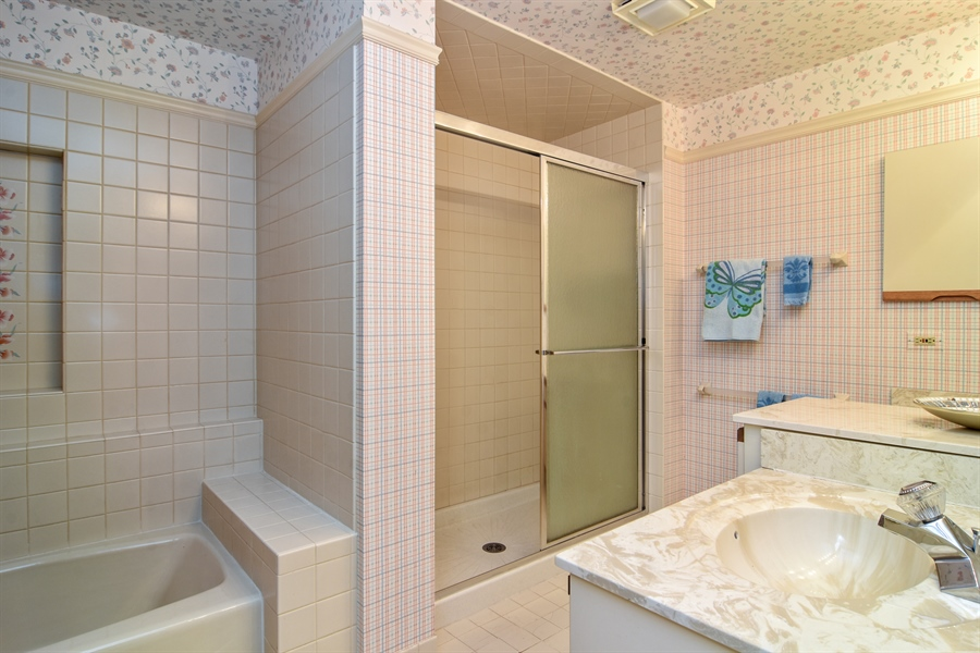 Real Estate Photography - 1413 Shire Circle, Inverness, IL, 60067 - Bathroom