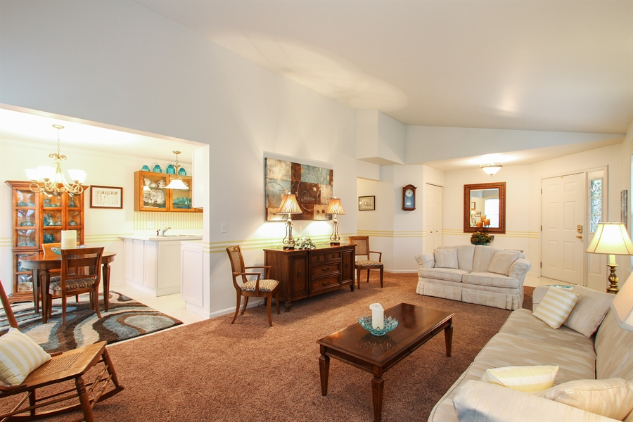 Real Estate Photography - 837 Blue Spruce Ct, Lindenhurst, IL, 60046 - Living Room / Dining Room