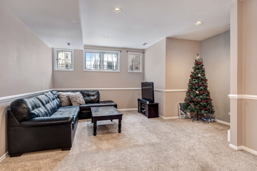 Real Estate Photography - 2139 W Addison St, Unit 1, Chicago, IL, 60618 - Family Room