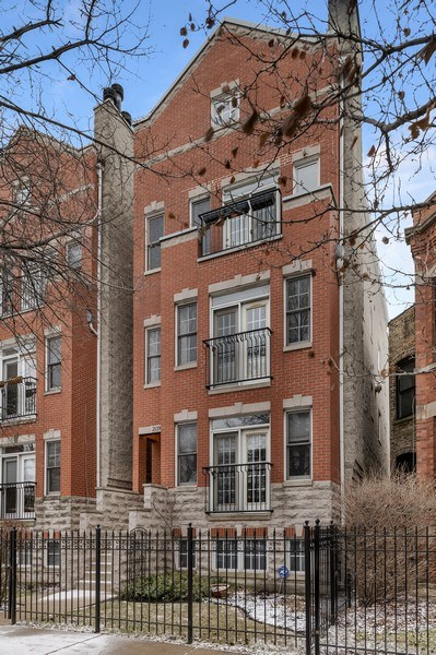 Real Estate Photography - 2139 W Addison St, Unit 1, Chicago, IL, 60618 - Front View