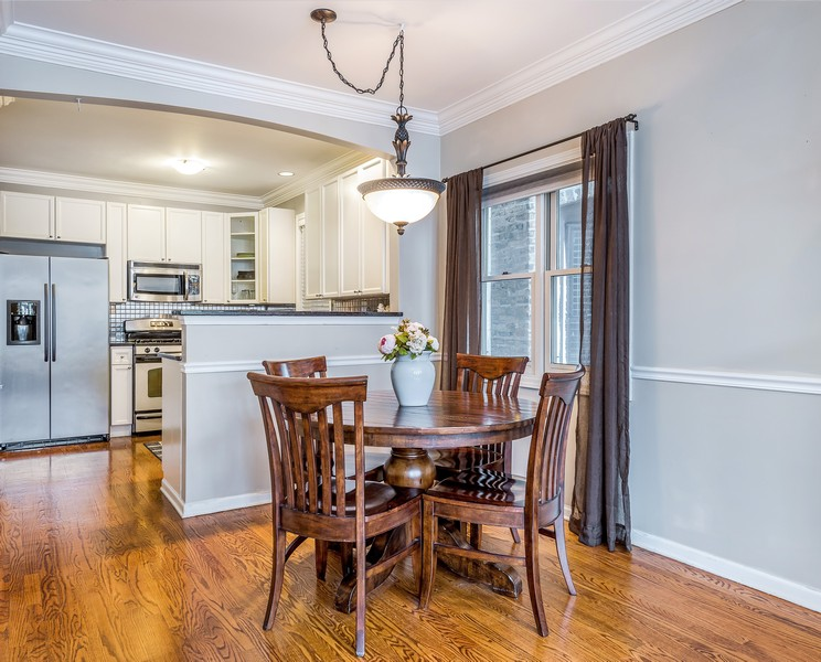 Real Estate Photography - 2139 W Addison St, Unit 1, Chicago, IL, 60618 - Dining Room