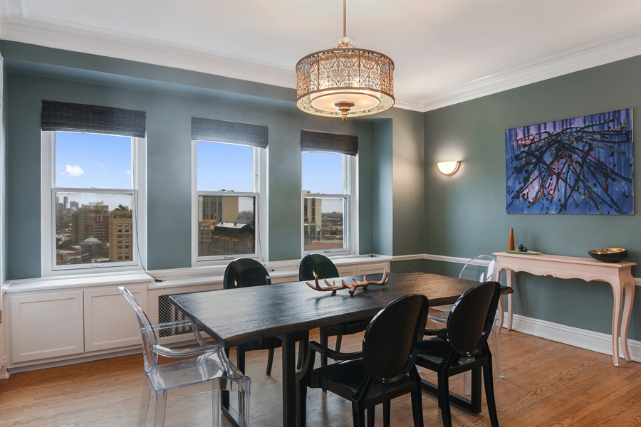 Real Estate Photography - 431 Oakdale, 14-D, Chicago, IL, 60657 - Dining Room