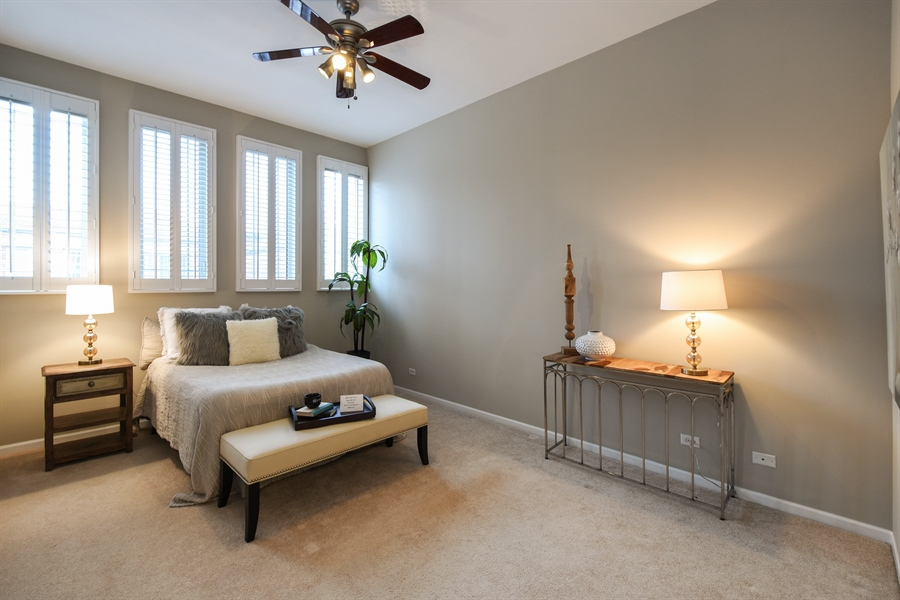 Real Estate Photography - 132 Finstad, Libertyville, IL, 60048 - Master Bedroom