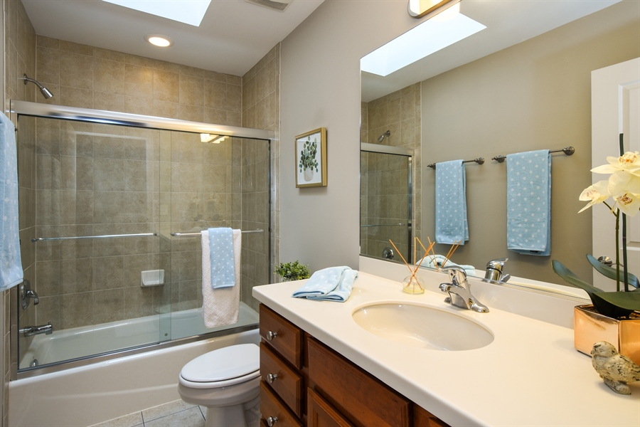 Real Estate Photography - 132 Finstad, Libertyville, IL, 60048 - 2nd Bathroom