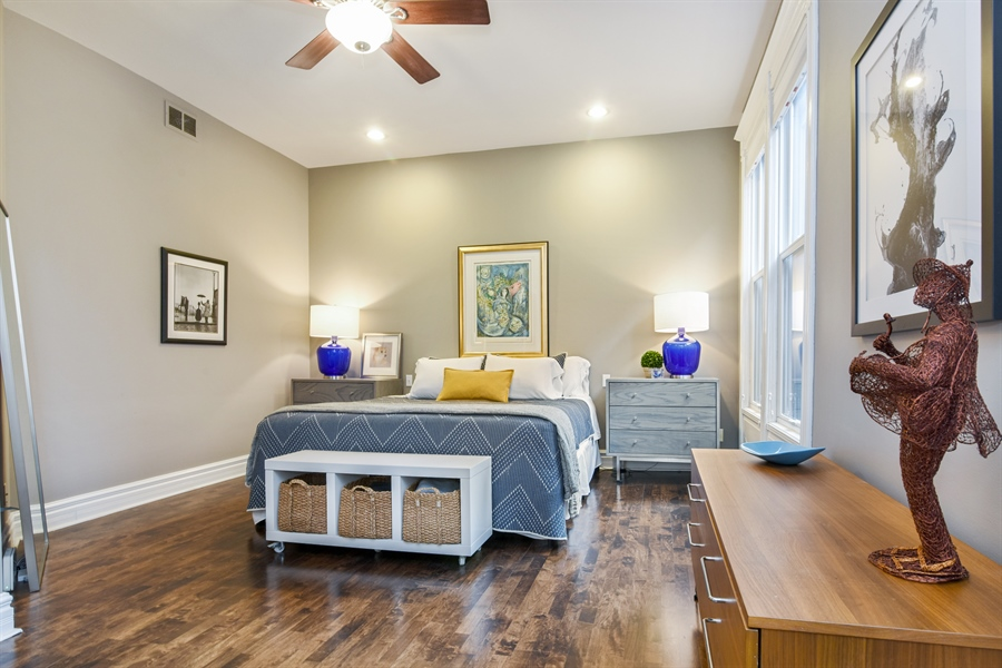 Real Estate Photography - 810 W Buckingham, 3W, Chicago, IL, 60657 - Master Bedroom